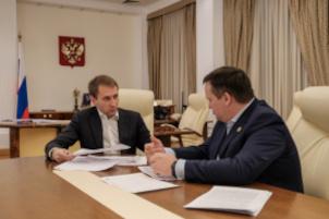 Глава Минприроды России провёл рабочую встречу с губернатором Новгородской области